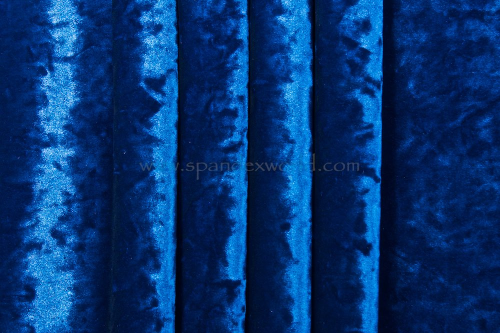 Stretch Crushed Velvet (Royal)
