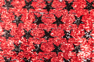 Reversible  Star Sequins (Black/White/Red)