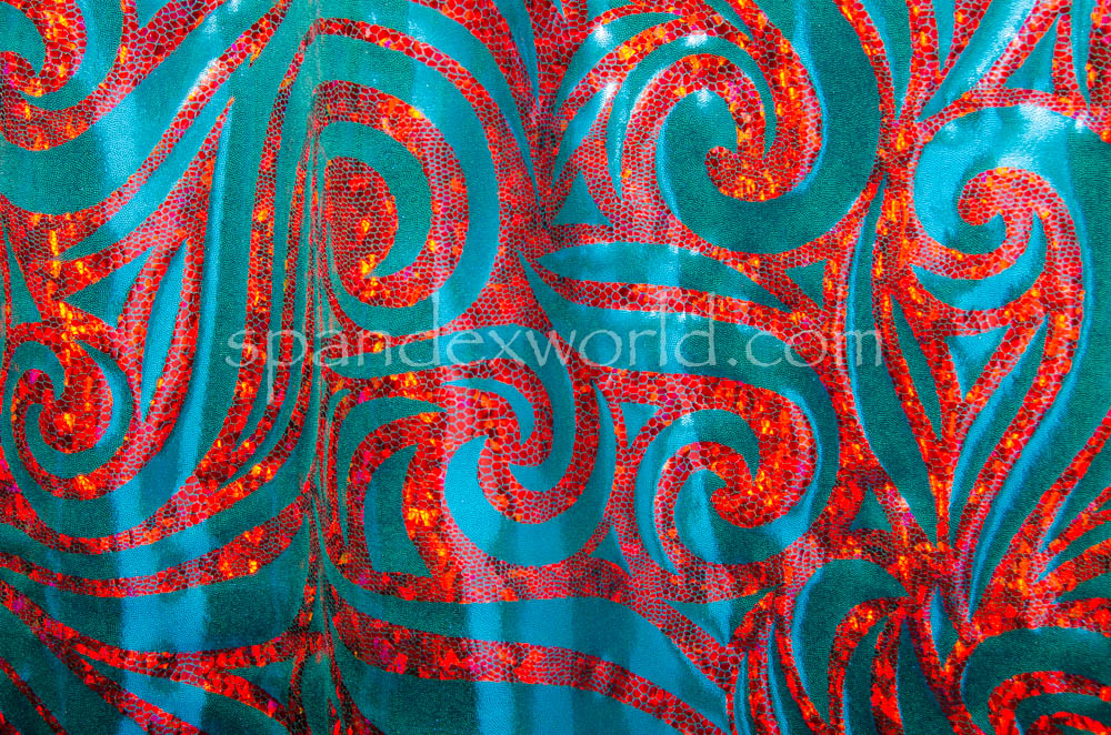 Pattern/Abstract Hologram (Teal/Red Holo)