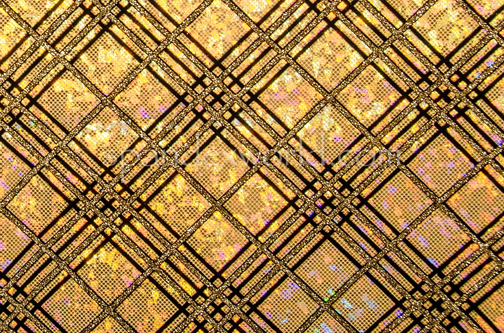 Pattern/Abstract Hologram (Gold/Gold/Black)