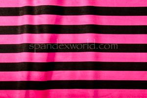 Printed Spandex (black, hot pink)