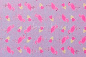 Flamingo Print Hologram (Blue/Fuchsia/Multi)
