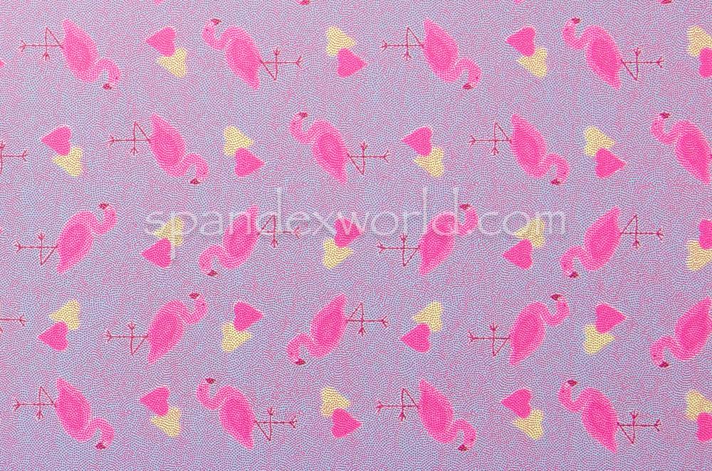 Flamingo Print Hologram (Blue/Fuchsia/Multi)