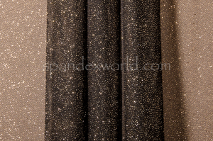 Glitter/Pattern Mesh (Black/Gold)