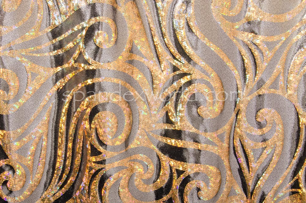 Pattern/Abstract Hologram (Black/Silver/Gold Holo)
