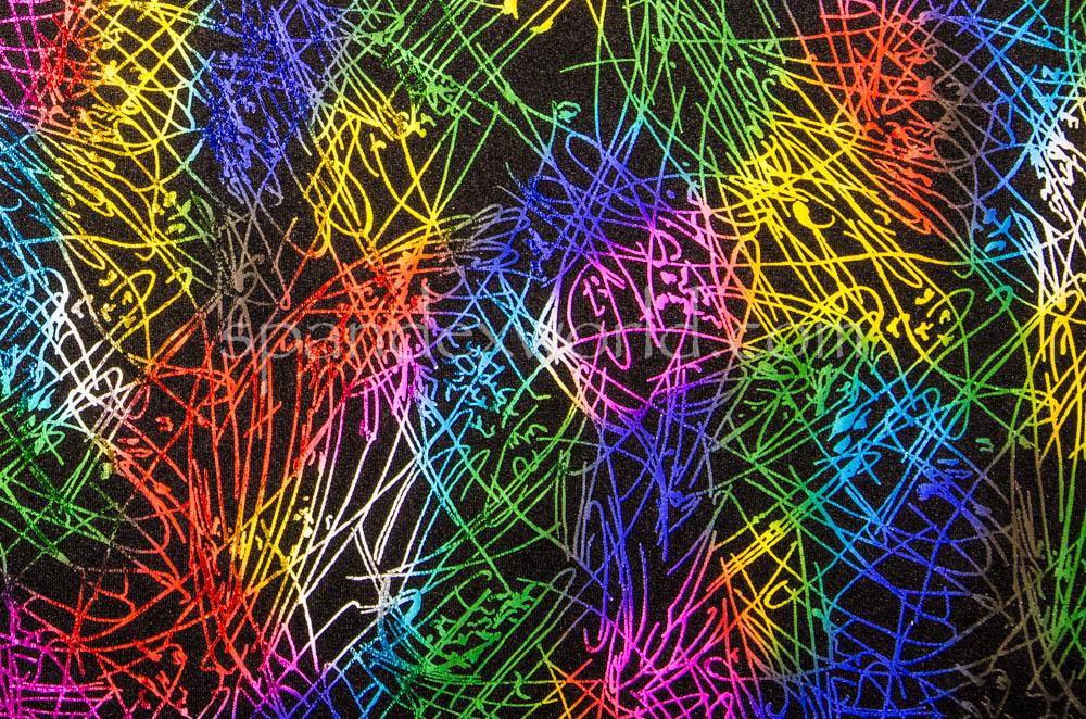 Pattern/Abstract Hologram (Black/multi)
