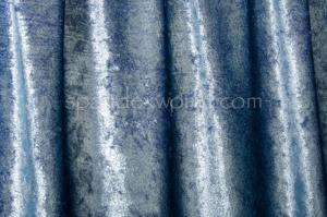 Metallic Stretch Velvet (Cobalt/Lt. Blue)