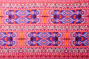 Aztec Print Spandex (Orange/Blue//Multi)