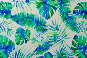Leaf Prints  (White/Green/Multi)