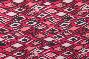 Abstract Print Spandex (Black/Mauve Pink/Multi)