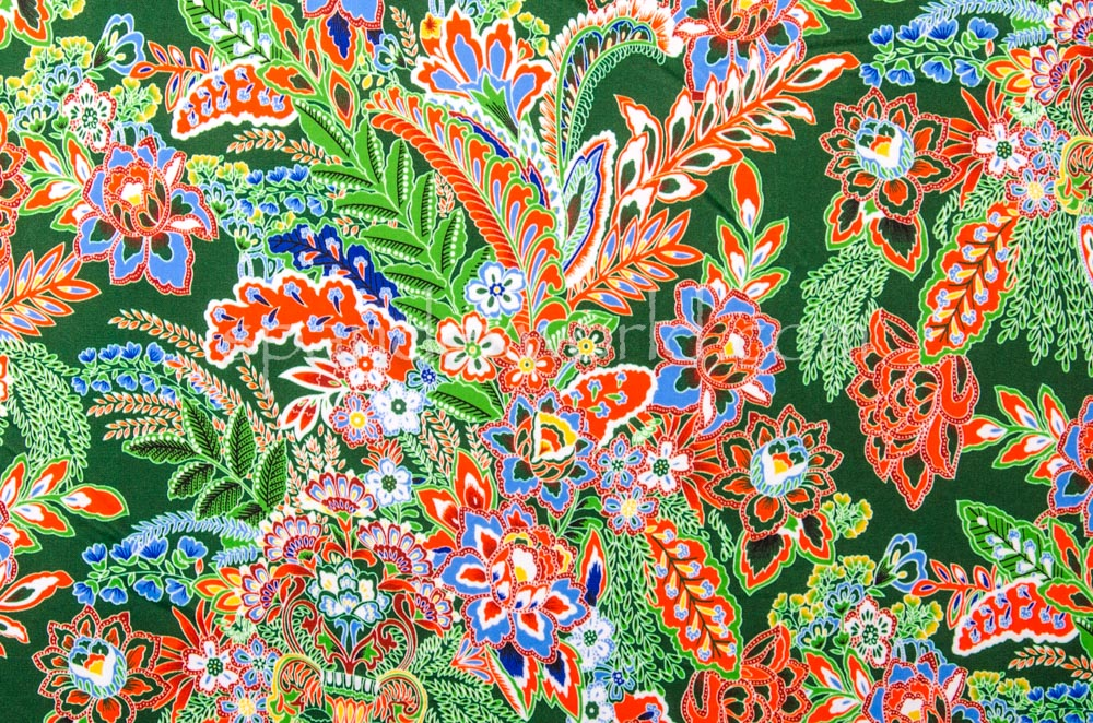 Floral Print (Green/Orange/Multi)