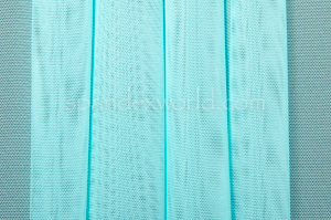 Stretch Solid Mesh (Aqua)