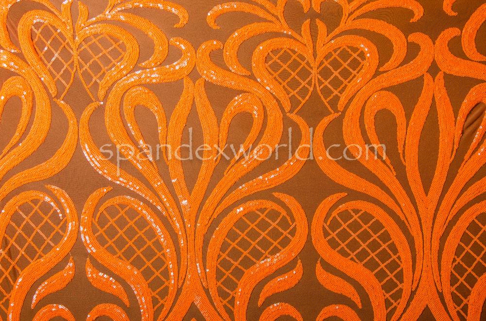 Stretch Sequins (Orange/Orange)
