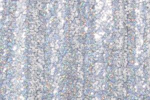 Non-Stretch Sequins (White/Silver Holo)