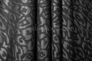 Circular Knit Cheetah Print foil (Black/Black Matte)