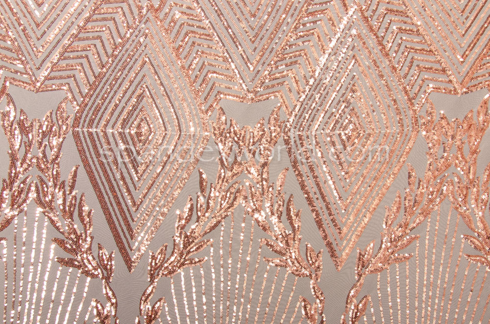 Stretch Sequins (Nude/Peach)