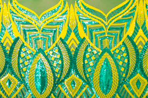 Stretch Sequins (Green/Yellow/Green)