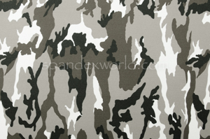 Printed Camouflage  (Black/White/Ash)