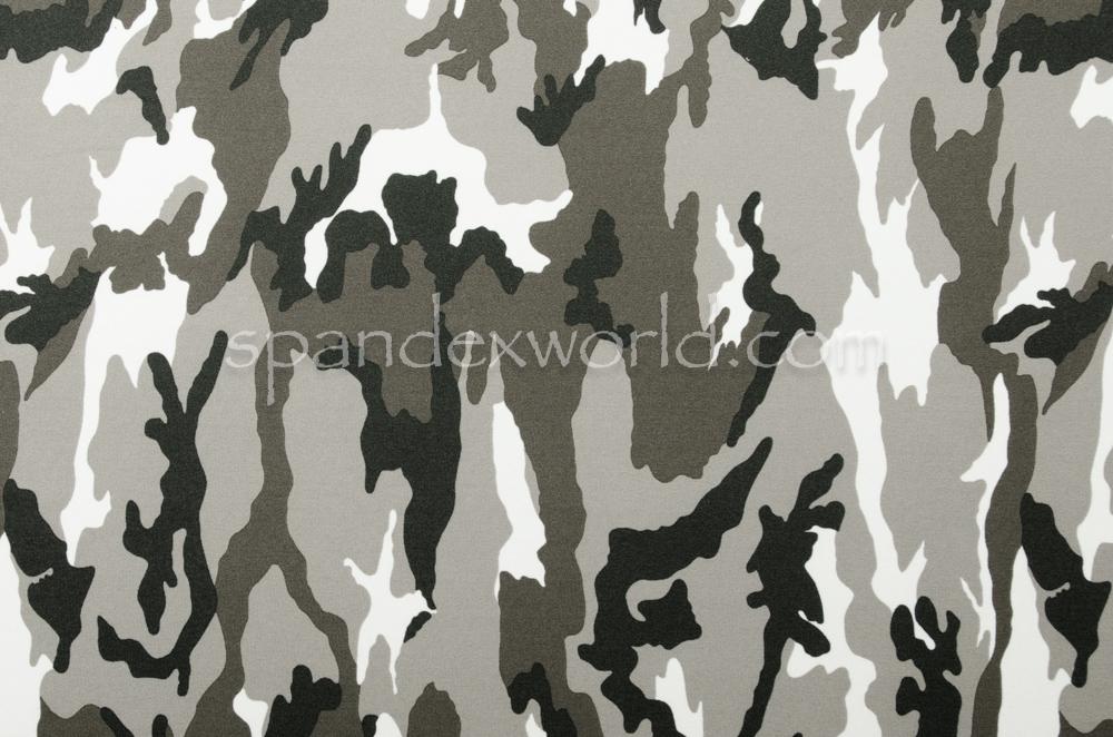 Printed Camouflage  (Black/White/Ash)