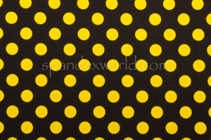 Printed Polka Dots (Black/Yellow)