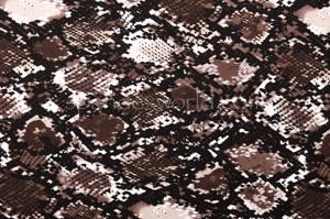 Printed cotton lycra (Black/White/Brown)