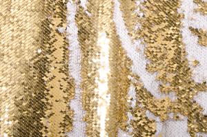 Reversible Sequins (White/Light Gold)