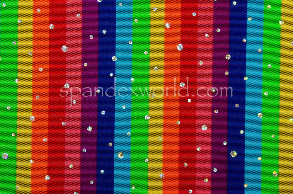 Glitter/Pattern Mesh (Rainbow/silver)