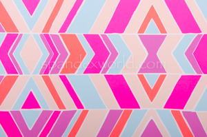 Abstract Print  Spandex (Pink/Fuchsia/Multi)