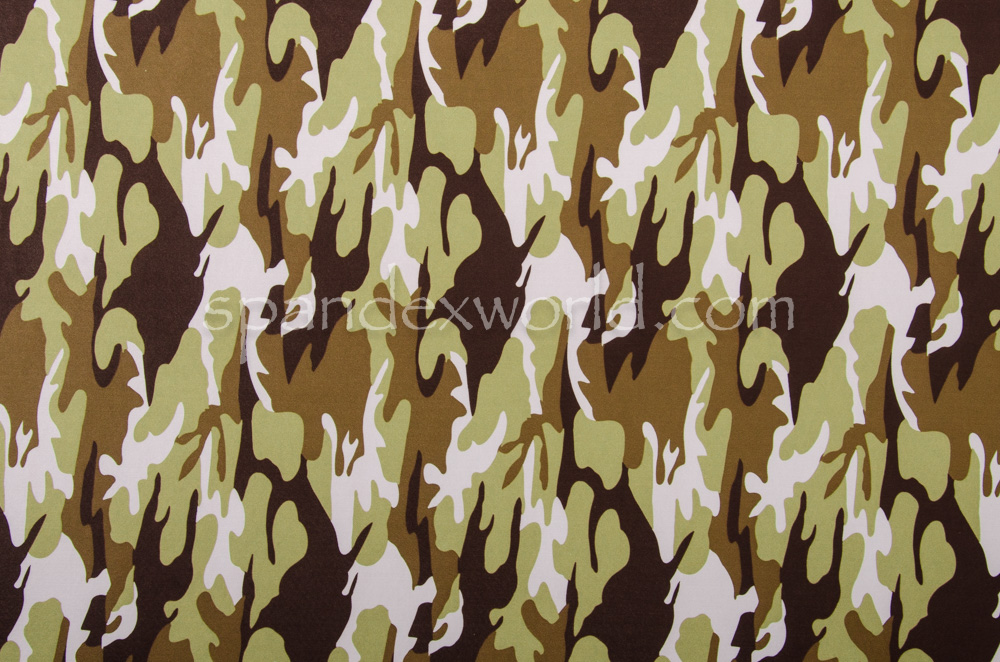 Printed Camouflage  (Brown/White/Green)