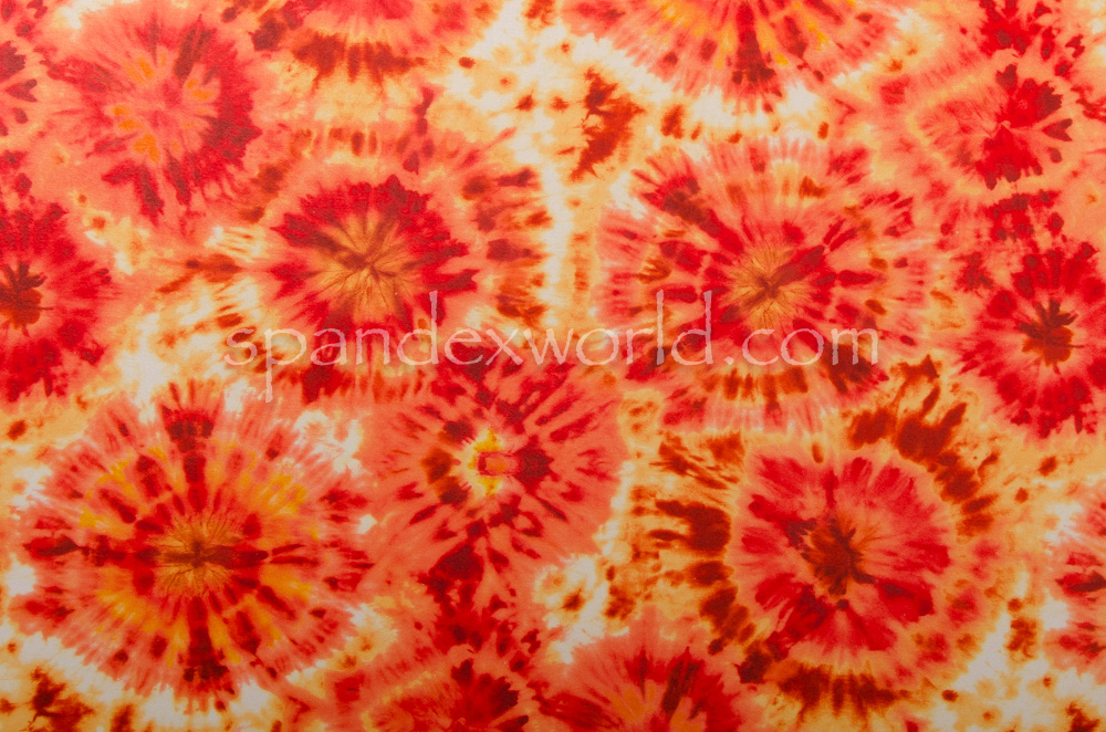 Tie dye spandex (Orange/Yellow/Multi)