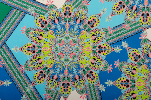 Paisley Print (Blue/Neon Green/Multi)