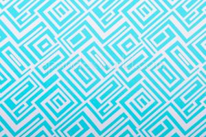 Abstract Print  Spandex (White/Celeste)