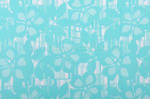 Floral Print  Spandex (White/Aqua Blue)
