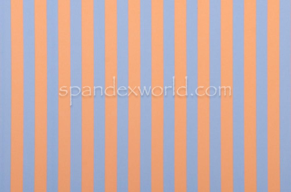 Printed Strips Spandex(Peach/Sky Blue)