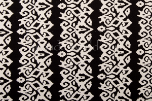 Abstract Print  Spandex (Black/White)