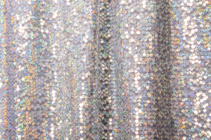 Stretch Sequins (White/Silver Holo)