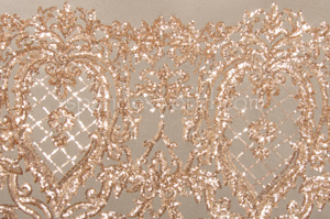 Stretch Sequins (Nude/Gold)