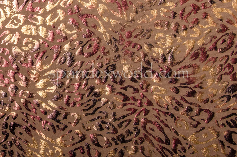 Circular Knit Cheetah Print foil (Toasted/Burgundy/Tan)