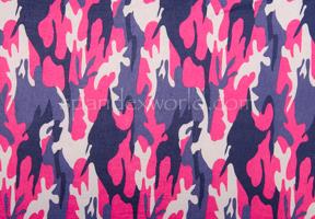 Printed Camouflage  (Navy/Pink/Multi)
