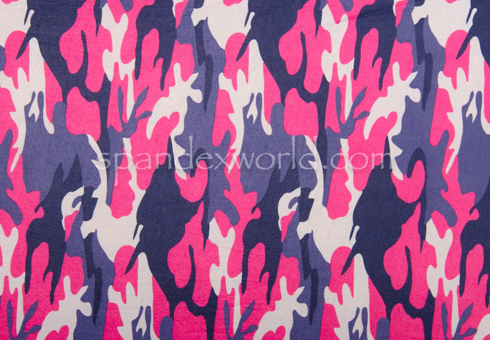 Printed Camouflage  (Navy/Pink/Multi)