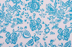 Floral Print (White/Blue)