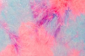 Tie Dye Stretch Velvet (Lilac/Pink/Multi)