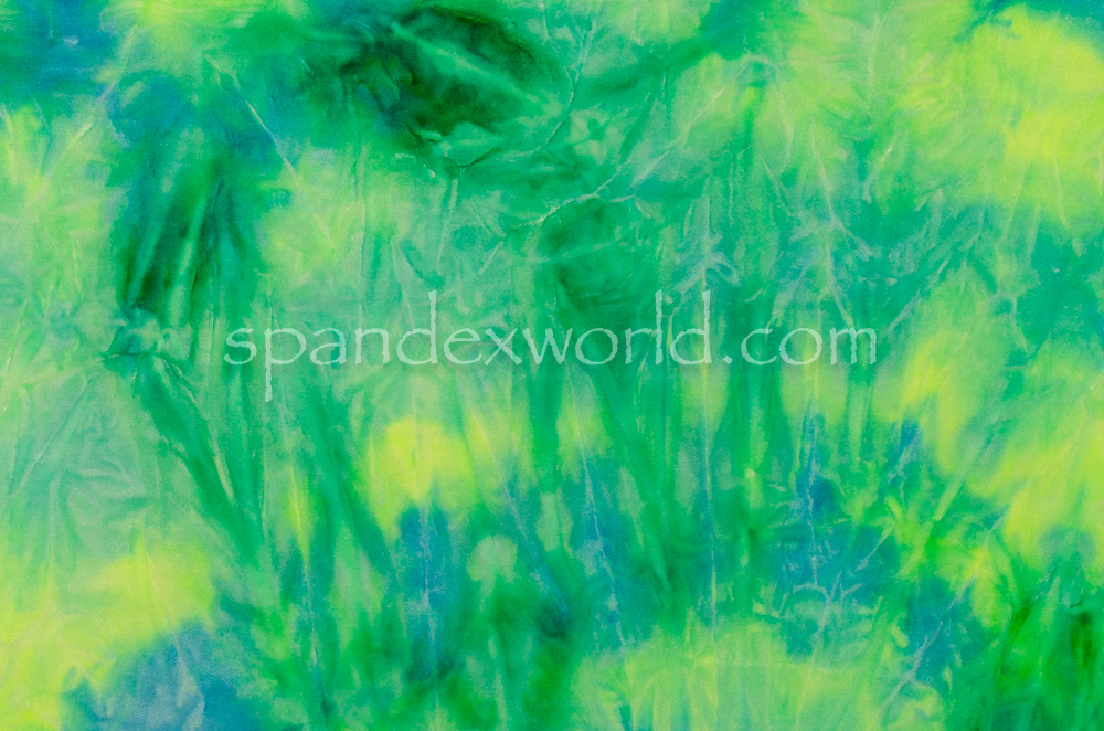 Tie Dye Stretch Velvet (Green/Turquoise/Multi)
