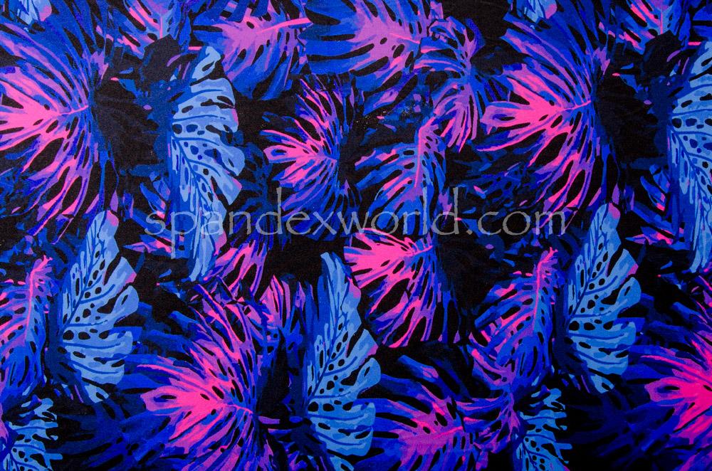 Leaf Prints (Black/Fuchsia/Multi)