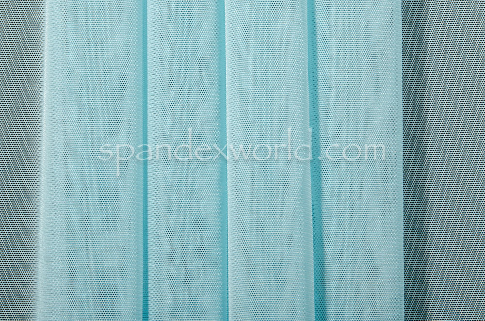 Stretch Solid Mesh-shiny (Baby Blue)