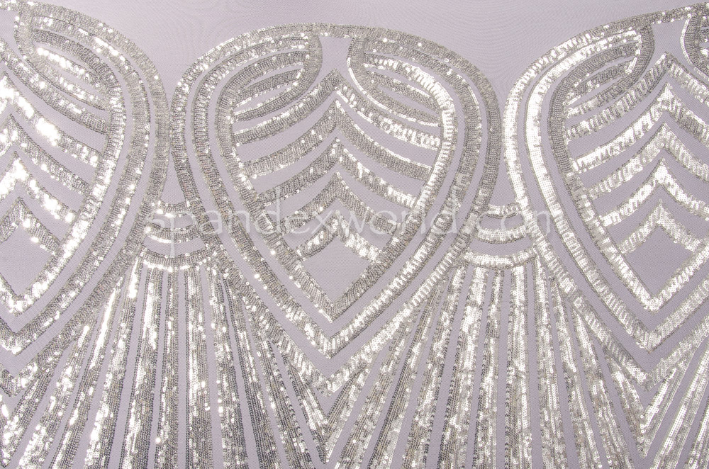 Stretch Sequins (White/Silver)