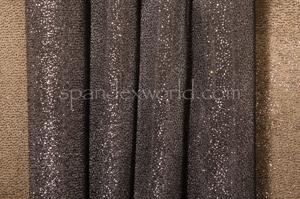 Organza Sheer Glitter/Pattern (Black)