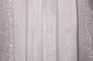 Organza Sheer Glitter/Pattern (Silver)