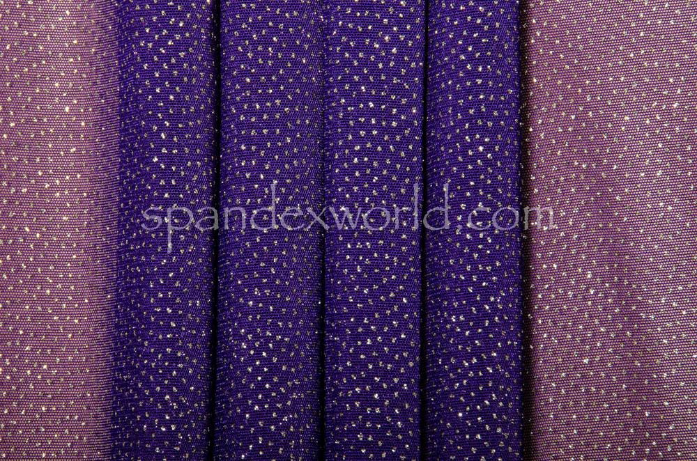 Sheer Glitter/Pattern (Purple/Silver)