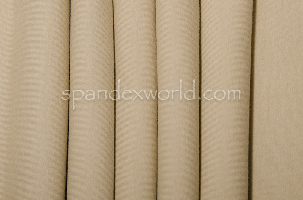 Cotton Lycra® (Cream)(Heavy-weight)